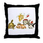 Cartoon kitten cats Christmas Throw Pillow