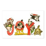 Cartoon kitten cats Christmas Postcards (8pk)