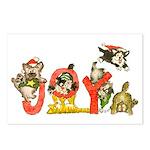 Cartoon kitten cats Christmas Postcards (8pk)