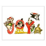 Cartoon kitten cats Christmas Small Poster