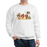 Cartoon kitten cats Christmas Sweatshirt