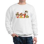 Cartoon kitten cats Christmas Sweatshirt