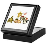 Cartoon kitten cats Christmas Keepsake Box