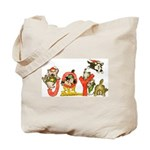 Cartoon kitten cats Christmas Tote Bag