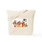 Cartoon kitten cats Christmas Tote Bag