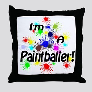 Paintballer Throw Pillow