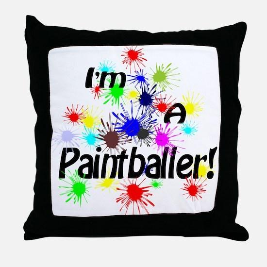 Paintballer Throw Pillow