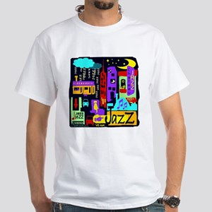 Jazz Nights White T-Shirt
