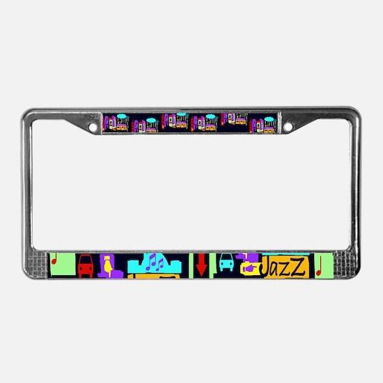Jazz Nights License Plate Frame