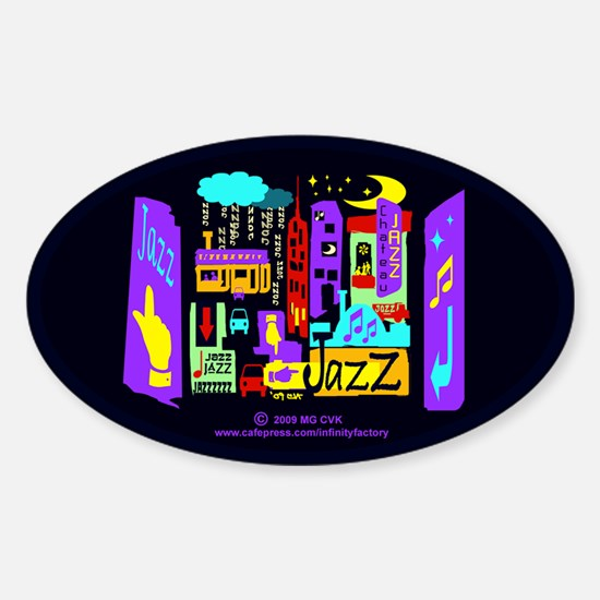 Jazz Nights Oval Decal