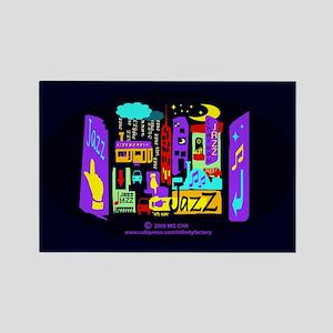 Jazz Nights Rectangle Magnet