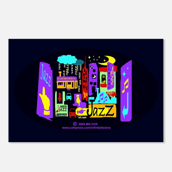 Jazz Nights Postcards (Package of 8)