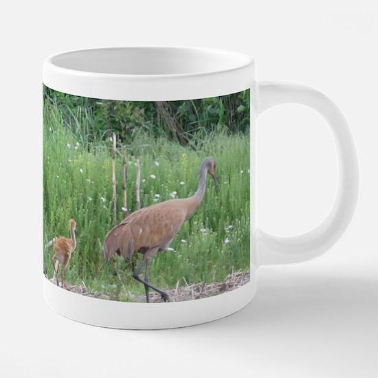 Sandhill Crane 20 oz Ceramic Mega Mug