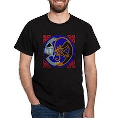 Celtic Bird & Cat Black T-Shirt