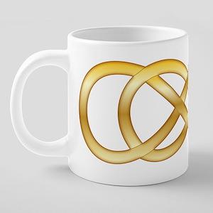 Double Infinity in Gold - 2 20 oz Ceramic Mega Mug