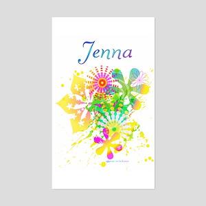 Jenna Rectangle Sticker
