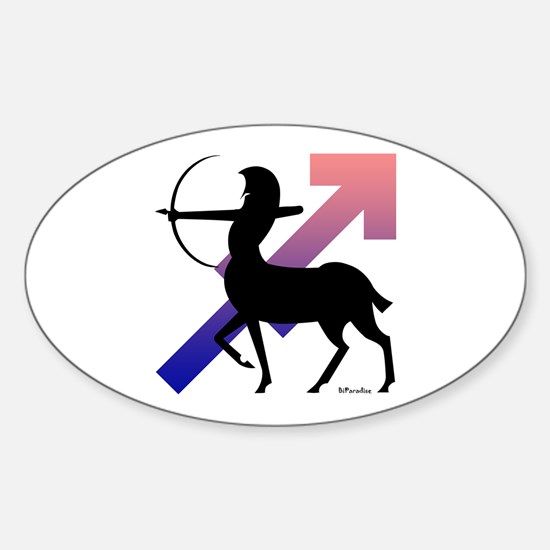 Sagittarius Oval Decal