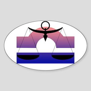 Libra Oval Sticker