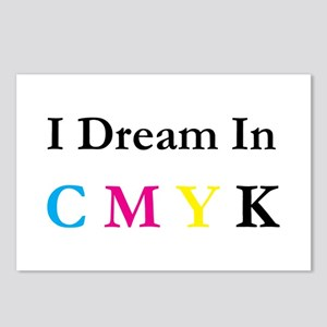 I Dream In CMYK Postcards (Package of 8)