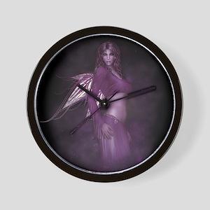 Twinkle - purple fairy Wall Clock