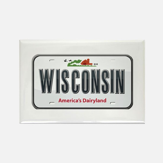 Wisconsin Plate Rectangle Magnet