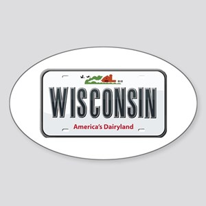 Wisconsin Plate Oval Sticker