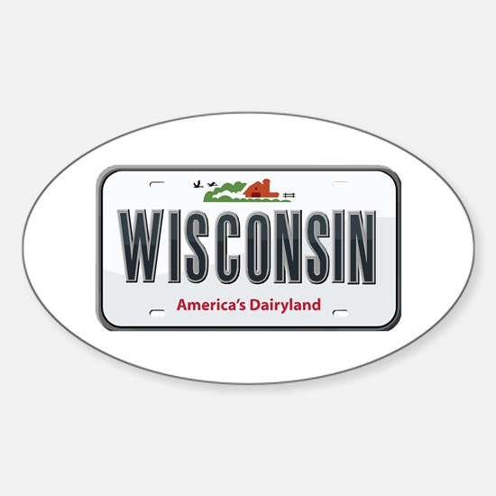 Wisconsin Plate Oval Decal