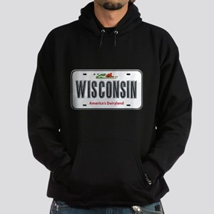 Wisconsin Plate Hoodie (dark)