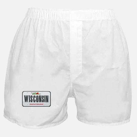 Wisconsin Plate Boxer Shorts
