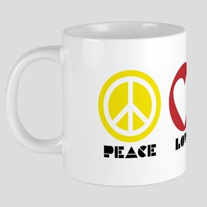 PEACE LOVE UNITY - Reggae t 20 oz Ceramic Mega Mug