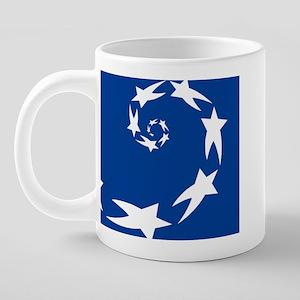 star spiral white dk blue 4 20 oz Ceramic Mega Mug