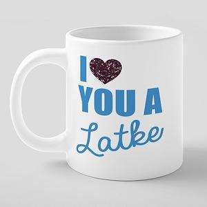 A Latke 20 oz Ceramic Mega Mug