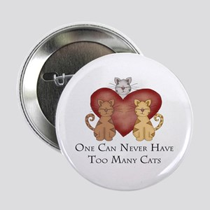"""Too Many Cats 2.25"""" Button"""