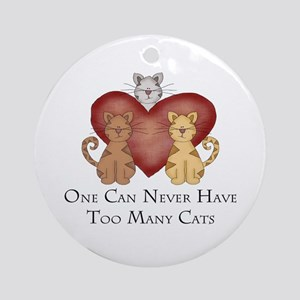 Too Many Cats Ornament (Round)