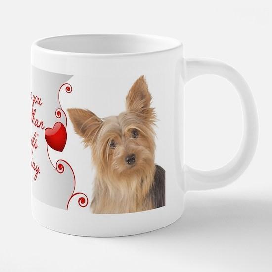 Love You More! Yorkie 20 oz Ceramic Mega Mug
