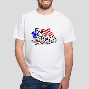 Dalmatian USA White T-Shirt