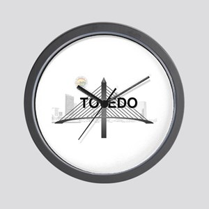 Toledo Veterans Glass City Skyway Wall Clock