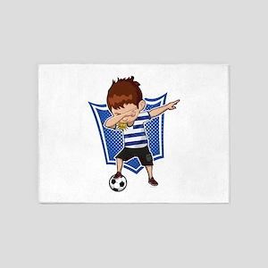 Football Dab Uruguay Uruguayan Foot 5'x7'Area Rug