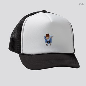 Football Dab Uruguay Uruguayan Fo Kids Trucker hat