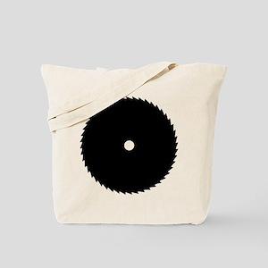 black saw blade Tote Bag