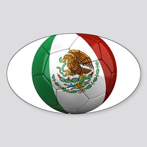 Mexico Soccer Ball Oval Sticker