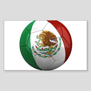 Mexico Soccer Ball Rectangle Sticker