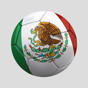 """Mexico Soccer Ball 3.5"""" Button"""