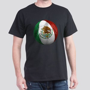 Mexico Soccer Ball Dark T-Shirt