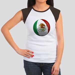 Mexico Soccer Ball Women's Cap Sleeve T-Shirt
