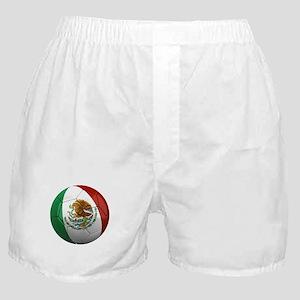 Mexico Soccer Ball Boxer Shorts