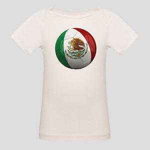 Mexico Soccer Ball Organic Baby T-Shirt