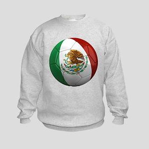 Mexico Soccer Ball Kids Sweatshirt