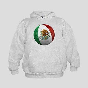 Mexico Soccer Ball Kids Hoodie
