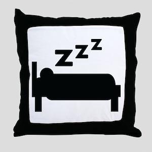 zzz sleeping Throw Pillow